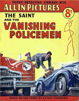 SUPER DETECTIVE LIBRARY No.15 - THE VANISHING POLICEMEN - Facsimile Comic
