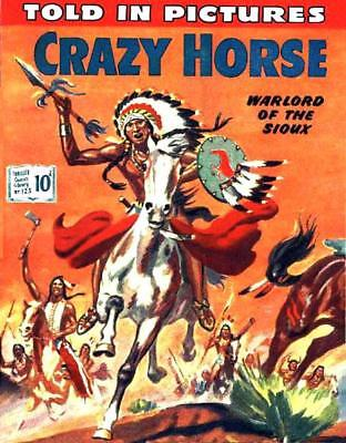 THRILLER PICTURE LIBRARY No.123 CRAZY HORSE -  Facsimile Comic