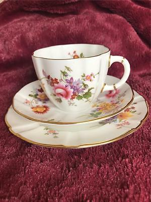 Royal Crown Derby Trio Cup Saucer Plate Derby Posies Mint!