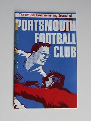 Portsmouth vs Cardiff City football programme, 27th March 1967