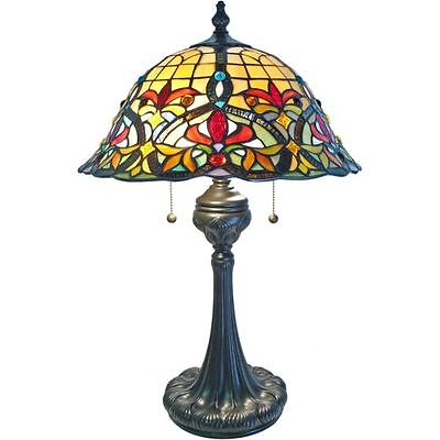 Table lamp stained-glass shade 486 pcs Vintage Bronze Finished Base