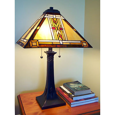 Kelowna Lamp Table lamp stained-glass shade 292 pcs