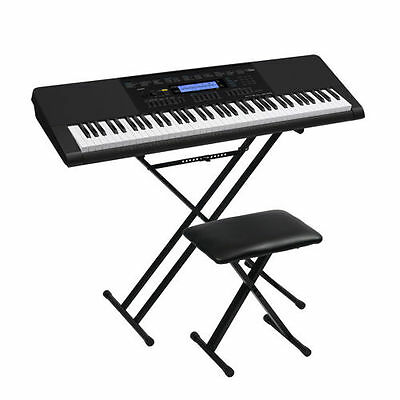 Casio WK-245DXAB Keyboard Bundle Includes Stand and Bench