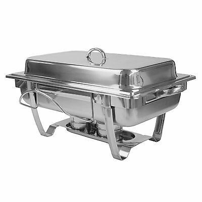 Excellante 8-Quart Stainless Steel Chafer, Stackable Chafing Dish