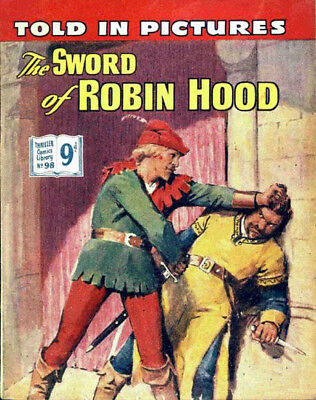THRILLER PICTURE LIBRARY No.98 THE SWORD OF ROBIN HOOD -  Facsimile Comic