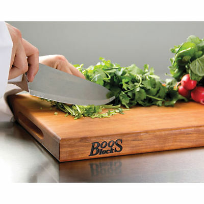John Boos Cherry Wood Cutting Board with Maintenance Products