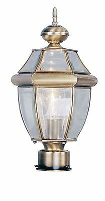 Monterey 1-Light Distressed Gold Post Light