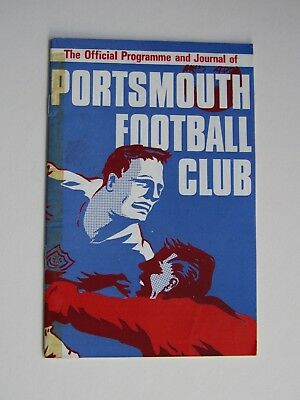 Portsmouth vs Huddersfield football programme, 10th December 1966