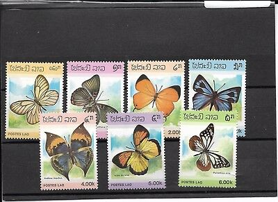 Papillons - Lao - 7 timbres neufs ** (MNH)