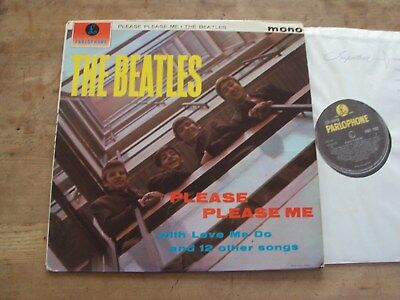 THE BEATLES - PLEASE PLEASE ME LP UK 1N 1N PMC 1202 Ernest J Day Sleeve LOVELY!