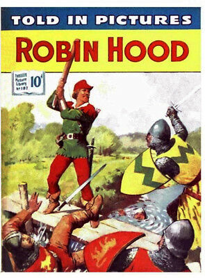 THRILLER PICTURE LIBRARY No.182 ROBIN HOOD -  Facsimile Comic