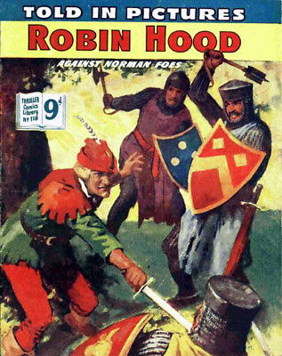 THRILLER PICTURE LIBRARY No.118 ROBIN HOOD -  Facsimile Comic