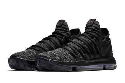 743983a3ad88 NIKE ZOOM KD 10   897815 004 Triple Black Men SZ 7.5 - 13 -  104.00 ...