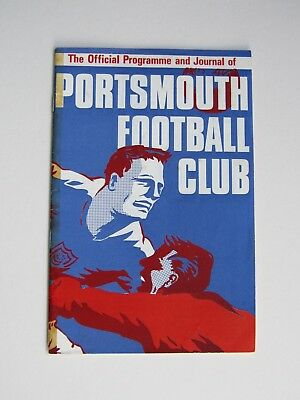 Portsmouth vs Millwall football programme, 24th September 1966
