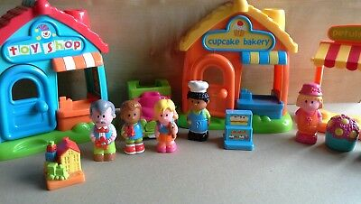 ELC Happyland Village with 3 shops - Cake shop, Toy Shop & Florist