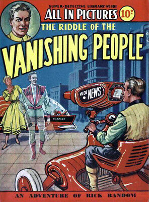 SUPER DETECTIVE LIBRARY No.101 - THE VANISHING PEOPLE - Facsimile Comic