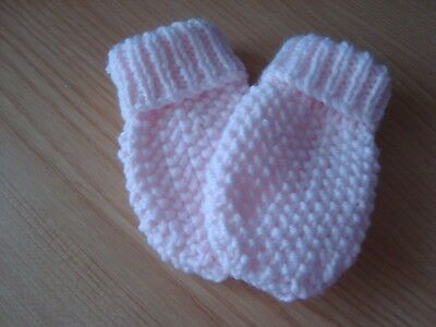 """Mittens X 1 Pr 4"""" Long X 2.5"""" Wide For Little Girl The Colour Is Baby Pink"""