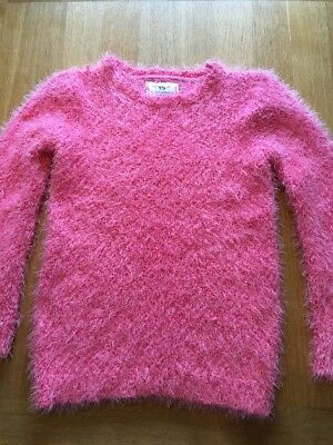 Girls Pink Fluffy Jumper Age 10-11 Years