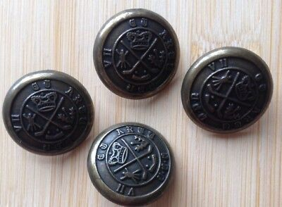 Vintage Brass Buttons X Four
