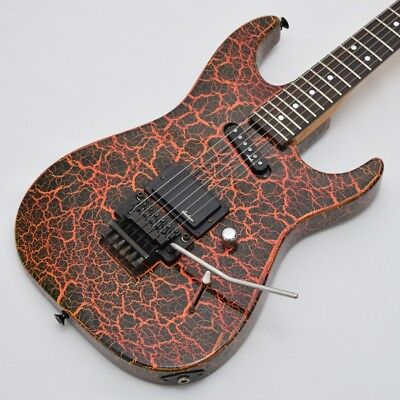 Charvel Orange Crackle, Electric Guitar, t7262