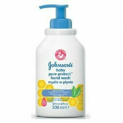 ** 2 X JOHNSONS BABY GENTLE PROTECT HAND WASH 300ml NEW ** SOAP FREE KIDS PUMP