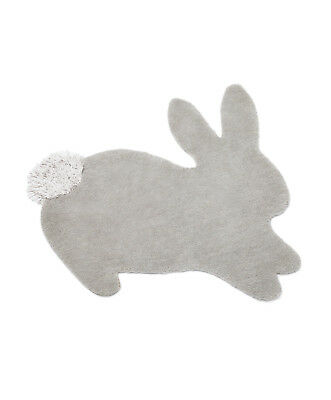 Mamas & Papas UNISEX WELCOME TO THE WORLD BUNNY WOOL NURSERY RUG £69 NEW