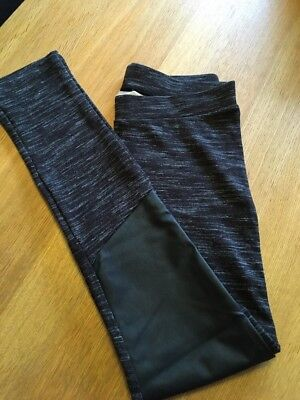 H&M Girls Leggings With PVC knee Patches Age 12-13 Years