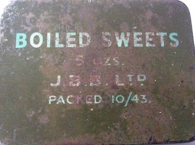 WW2 British Boiled sweets Ration tin. 1943 Dated ,