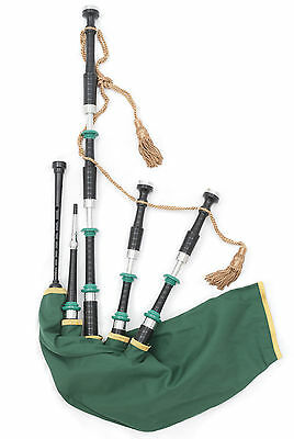 McCallum Irish Celtic themed highland bagpipes synthetic zip bag + chanter