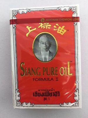 Siang pure peppermint menthol oil red best relieve dizziness nasal cold oil 3cc.