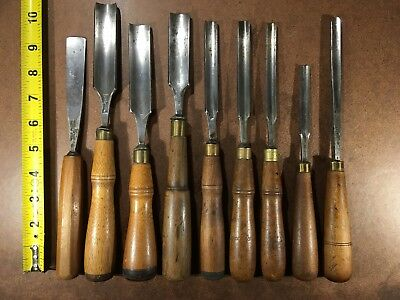 Nice lot of CARVING GOUGES, 7 BUCK BROS, 1 CHARLES BUCK, 1 SPEAR & JACKSON