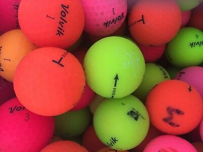 40 A Grade Volvik Vivid Golf Balls , Mixed Colours 99P Start No Reserve