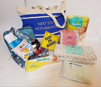 Maternity Hospital Bag Product Bundle for Mum & Baby Packed into a Sloganed Tote