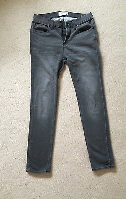 Abercrombie Kids Boys Super Skinny Grey Jeans, Slim 15/16