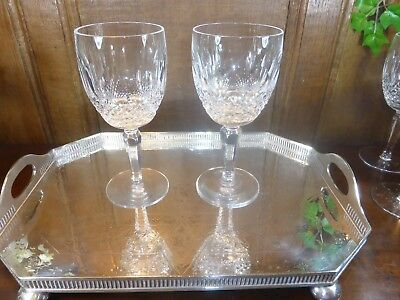 EXCELLENT RARE Waterford crystal COLLEEN SETS 2 TALL STEM GOBLETS/GLASSES - 7""
