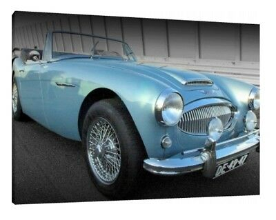 Austin-Healey 3000 - 30x20 Inch Canvas Art - Framed Picture Classic Car Print