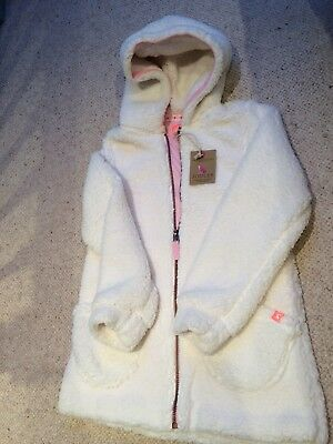 little joules girls Cream Huddle Hoody 9-10 Brand New With Tags