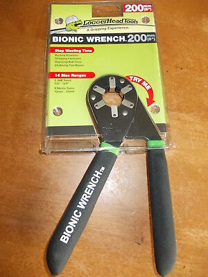 "LOGGERHEAD TOOLS BIONIC WRENCH 200mm 8"" - BRAND NEW"