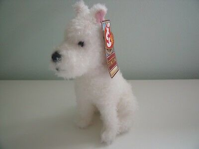 Ty Beanie Babies 2011 Snowy The Dog From Tintin With Tags Approx 8 Inches