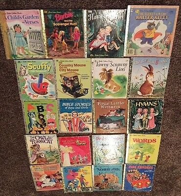 Lot Of 20 Vintage 1960s 90s Little Golden Books Childrens Books