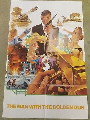 1974 James Bond Moore The Man with the Golden Gun Exhibitors book w poster