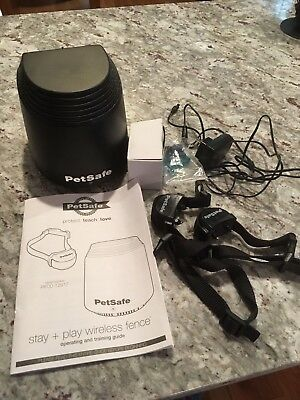 PetSafe Stay + Play Wireless Fence  PIF00-12917 - new with 2 collars!