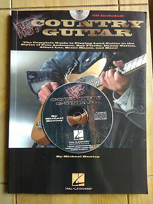 Red Hot Country Guitar by Michael Hawley tuition book/CD in excellent condition