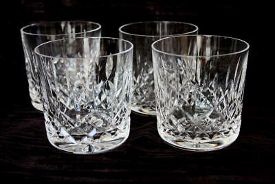 Set Of 4 Waterford Crystal Lismore Old Fashioned