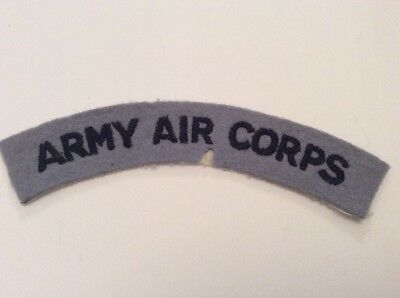 Genuine WW2 British Airborne Army Air Corps Shoulder Title Cloth Insignia