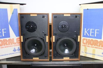 KEF CHORALE SPEAKERS Superb Fully Working Examples BOXED T27/B200