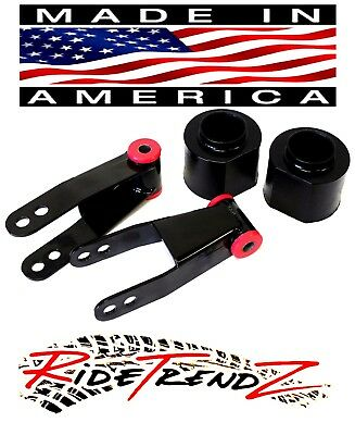 """Jeep Xj Cherokee Lift Kit 2"""" Front Poly Spring Spacers 2"""" Rear Shackles 4Wd Bn4"""
