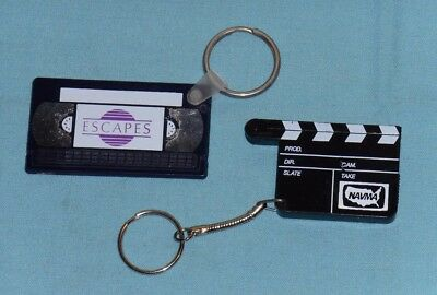 video store promotional promo KEYCHAIN keyring lot ESCAPES (Vincent Price) NAVMA