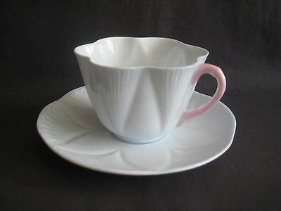 Shelley ~ Pastel Blue & Pink Cup & Saucer ~ Dainty Shape