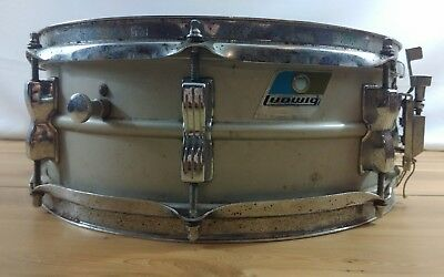 Ludwig 1978 or 1979 Acrolite Snare Drum 5 x 14 Vintage Aluminum Shell Project
